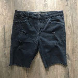 AE Denim Bike Shorts